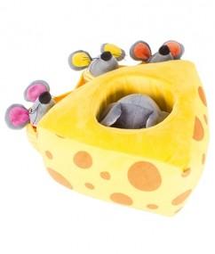 Mila muis - Mila - handpoppen - pluche - houten speelgoed - speelgoed - dn houten tol - de mouthoeve - boekel - beleduc - hape - peuter - kleuter - demente bejaarden - muis - muis handpop - vriendjes