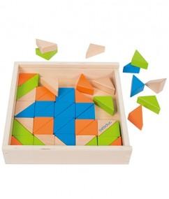 blokken - driehoeken - triangle box - triangel blokken - speelgoed - houten speelgoed - beleduc - dn houten tol - de mouthoeve - boekel - winkel - hape - hout - peuter - kleuter