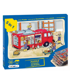 brandweer puzzel - puzzel - lagenpuzzel brandweer - beleduc - 17035 - speelgoed - houten speelgoed - kleuter - dn houten tol - de mouthoeve - boekel - winkel - 5 lagen puzzel