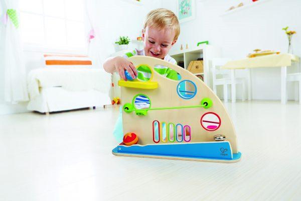 Rollerbaan - roller derby - hout - houten speelgoed - knikkerbaan - speelgoed - dn houten tol - de mouthoeve - boekel - winkel - hape - baby - peuter
