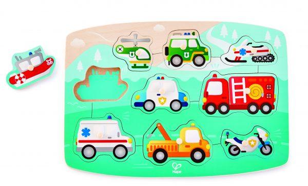 puzzel - dreumes - E1406 - noodpuzzel - emergency peg puzzel - hout - speelgoed - houten speelgoed - dn houten tol - de mouthoeve - boekel - winkel - hape