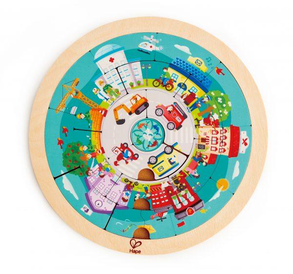 puzzel - jobs rotondepuzzel - jobs roundabout puzzle - hout - speelgoed - houten speelgoed - ronde puzzel - dn houten tol - de mouthoeve - boekel - winkel - hape - E1624 - kleuter