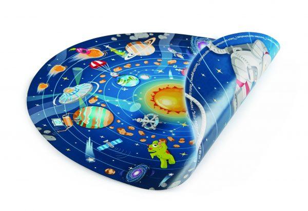 E1625 - puzzel - spellen - hout - solar system puzzle - zonnestelselpuzzel - ronde puzzel - hape - speelgoed - houten speelgoed - dn houten tol - de mouthoeve - poster - boekel - winkel