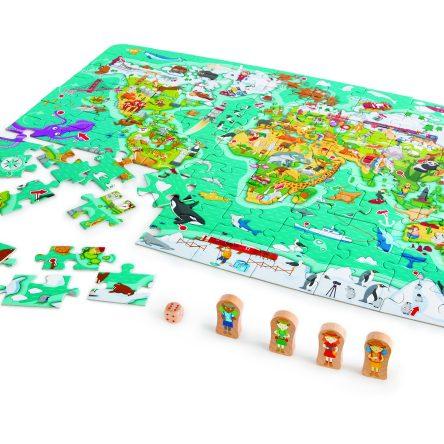2-in-1 Wereld Spel en Puzzel