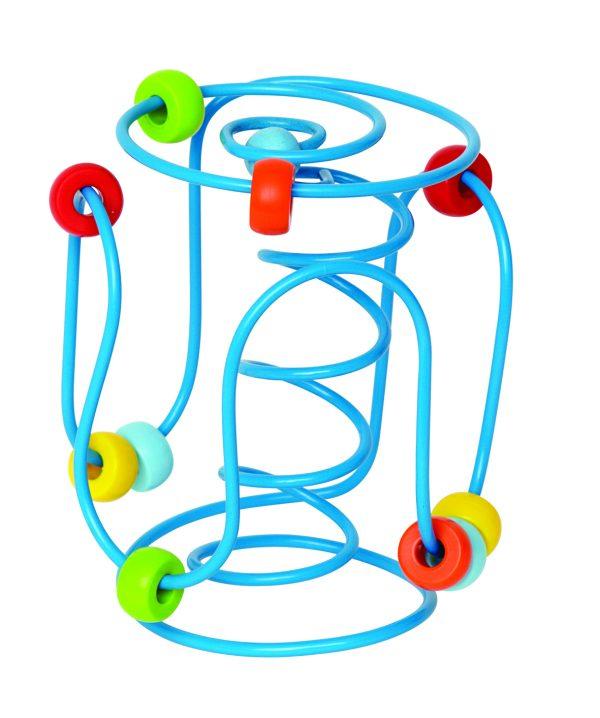 Draaddolhof - spring a ling - speelgoed - houten speelgoed - hout - dn houten tol - de mouthoeve - boekel - winkel - baby - peuter - hape - E1800