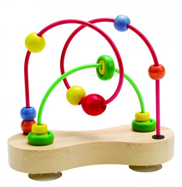 Dubbel bubbel doolhof - double bubble - speelgoed - houten speelgoed - hout - baby - peuter - dn houten tol - de mouthoeve - boekel - winkel - hape - E1801