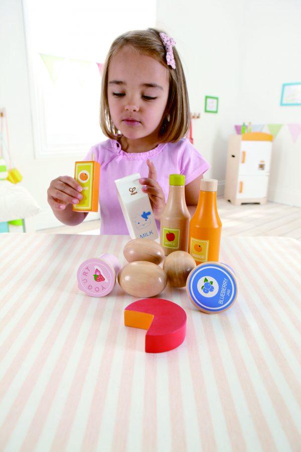 boter kaas en eieren - healthy basics - hout - kunststof - zuivel speelgoed - speelgoed - houten speelgoed - hape - E3108 - dn houten tol - de mouthoeve - boekel - winkel - houten eieren