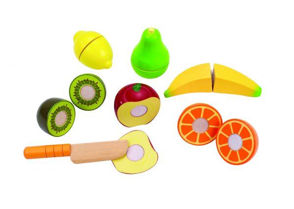 fruit - fresh fruit - hape - E3117 - speelgoed - hout - houten speelgoed - dn houten tol - de mouthoeve - boekel - kleuter - peuter - vanaf 3 jaar