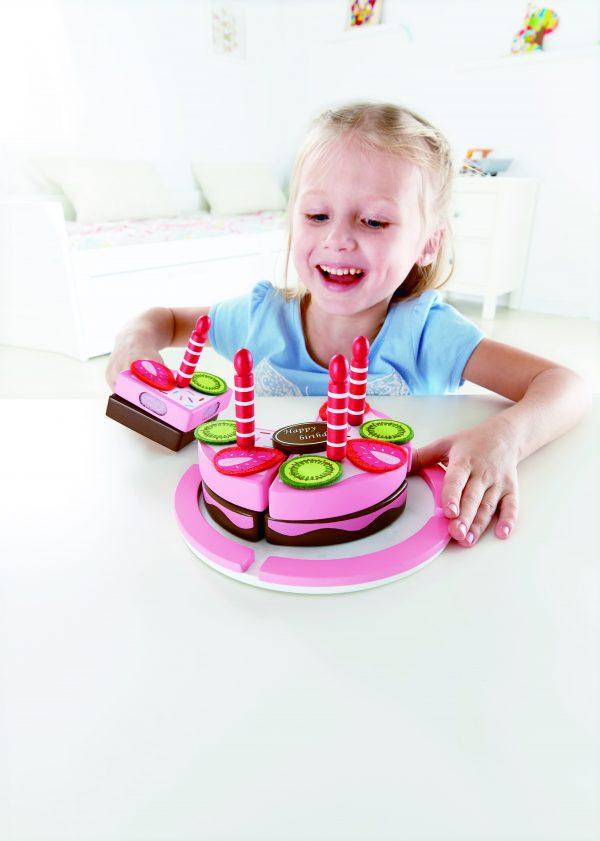 verjaardagstaart - double flavored birthday - taart - hout - speelgoed - houten speelgoed - peuter - kleuter - dn houten tol - de mouthoeve - boekel - winkel - hape - E3140