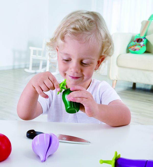 groenten pakket - garden vegetables - groenten - speelgoed - houten speelgoed - kinder speelgoed - hape - E3161 - peuter - kleuter - dn houten tol - de mouthoeve - boekel - winkel - kinderen - child - keukentje