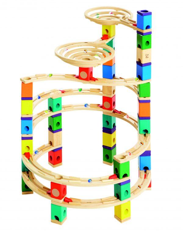 The cycloon - cycloon knikkerbaan - hout - kleuter - speelgoed - houten speelgoed - dn houtentol - de mouthoeve - boekel - winkel - hape - E6008