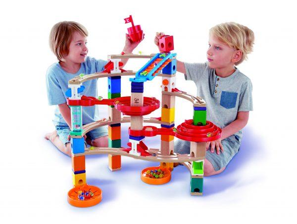 knikkerbaan - super spiraal - super spirals - speelgoed - houten speelgoed - hape - E6024 - kinder speelgoed - dn houten tol - kleuter - vanaf 4 jaar - de mouthoeve - boekel - winkel - knikkers