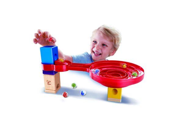 knikkerbaan- Dubbelzijdige spiraalvormige draai - double sided spiral twist - speelgoed - houten speelgoed - kinder speelgoed - hape - E6026 - kleuter - vanaf 4 jaar - dn houten tol - de mouthoeve - boekel - winkel - kinderen - child