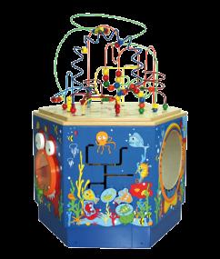 Koraal activity center - coral reef activity center - hout - peuter - kleuter - dn houten tol - de mouthoeve - boekel - winkel - E1907 - Hape - speelgoed - houten speelgoed