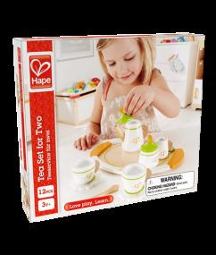 thee servies - tea set for two - hape - E3124 - speelgoed - houten speelgoed - peuter - dn houten tolo - de mouthoeve - boekel - winkel - kleuter - child
