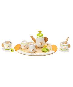 thee servies - tea set for two - hape - E3124 - speelgoed - houten speelgoed thee servies - tea set for two - hape - E3124 - speelgoed - houten speelgoed - peuter - dn houten tolo - de mouthoeve - boekel - winkel - kleuter - child
