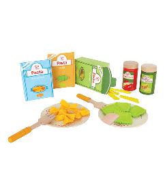 pasta set - hape - E3125 - hout - speelgoed - houten speelgoed - peuter - kleuter - dn houten tol - de mouthoeve - boekel - winkel