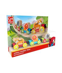 trein - houten trein - jungle trein - jungle journey train - hape - speelgoed -houten speelgoed - dreumes - peuter - dn houten tol - de mouthoeve - boekel - winkel - E3807