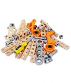 luxe experimenteset - deluxe experiment kit - hout - kunststof - kleuter - vanaf 4 jaar - hape - dn houten tol - de mouthoeve - boekel - E3032 - speelgoed - houten speelgoed - winkel