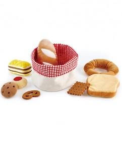 broodmand - stof- vilt - hout - speelgoed - houten speelgoed - hape - E3168 - dn houten tol - de mouthoeve - boekel - winkel