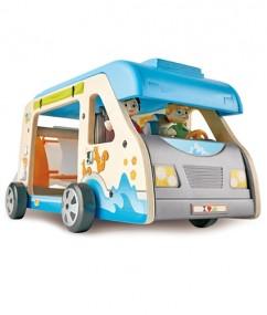 camper - adventure - hape - E3407 - speelgoed - houten speelgoed - kinder speelgoed - kleuter - peuter - vanaf 3 jaar - dn houten tol - de mouthoeve - boekel - winkel - kinderen - kamperen - child