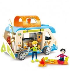 verjaardags kado - verjaardagscadeau - kado - cadeau - camper - adventure - hape - E3407 - speelgoed - houten speelgoed - kinder speelgoed - kleuter - peuter - vanaf 3 jaar - dn houten tol - de mouthoeve - boekel - winkel - kinderen - kamperen - child