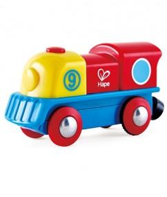 trein - brave locomotief - brave little engine - hape - hout - speelgoed - houten speelgoed - dn houten tol - de mouthoeve - boekel - winkel - E3820 - houten trein
