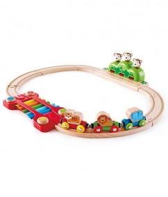trein - houten trein - muziek trein - music and monkeys railway - speelgoed - hout - houten speelgoed - hape - dreumes - peuter - kleuter - dn houten tol - de mouthoeve - boekel - winkel