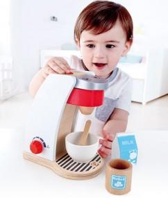 koffiezetapparaat - my coffee machine - speelgoed - hout - houten speelgoed - hape - E3146 - peuter - kleuter - vanaf 3 jaar - dn houten tol - de mouthoeve - boekel - winkel - keukentje - child
