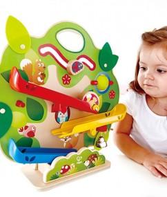 Eekhoorn treinbaan - nutty squirrel railway - hout - eekhoorn - speelgoed - trein - houten speelgoed - dn houten tol - de mouthoeve - boekel - winkel - E3821 - baby - dreumes - peuter