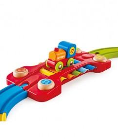 regenboog trein - trein - houten trein - hout - sensory railway - E3822 - hape - dreumes - peuter - dn houten tol - de mouthoeve - speelgoed - houten speelgoed - boekel - winkel