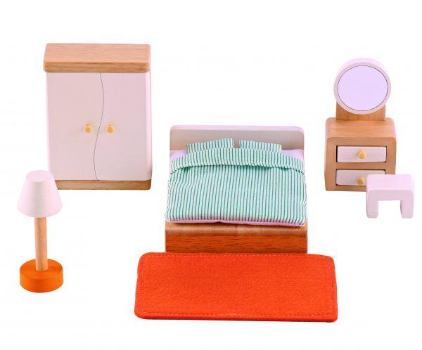 bol.com - master bedroom - grote slaapkamer - slaapkamer - bed - E3450 - hape - poppenhuis - speelgoed - houten speelgoed - kinderen- child - kinder speelgoed - dn houten tol - de mouthoeve - boekel - peuter - kleuter - vanaf 3 jaar