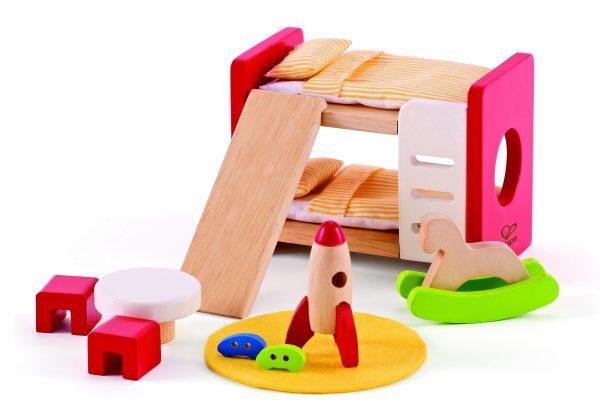 stapelbed- children's room - kinderkamer - poppenhuis- peuter kleuter - vanaf 3 jaar- speelgoed - houten speelgoed - kinder speelgoed - child - kado - cadeau - verjaardagskado - verjaardagscadeau - hape - E3456 - dn houten tol - de mouthoeve - boekel - winkel