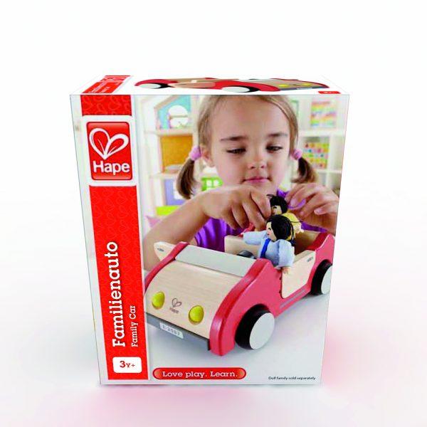 familie auto - auto - family car - hape - E3475 - speelgoed - houten speelgoed - kinder speelgoed - child - kind - peuter - kleuter - verjaardagscadeau - verjaardagskado - kado - cadeau - poppenhuis - dn houten tol - de mouthoeve - boekel - winkel