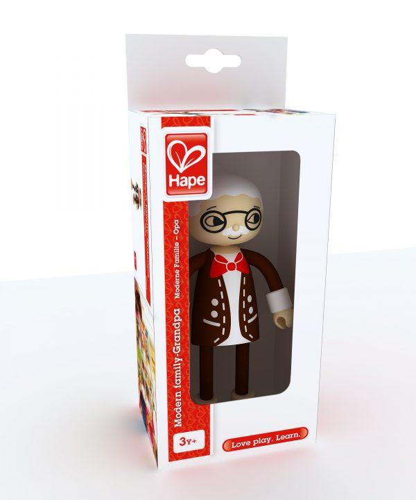 opa - grandpa - modern family - speelgoed - poppenhuis - houten speelgoed - hout - kinderspeelgoed - hape - E3503 - vanaf 3 jaar - peuter - kleuter - verjaardagskado - cadeau - kado - dn houten tol - de mouthoeve - boekel - winkel