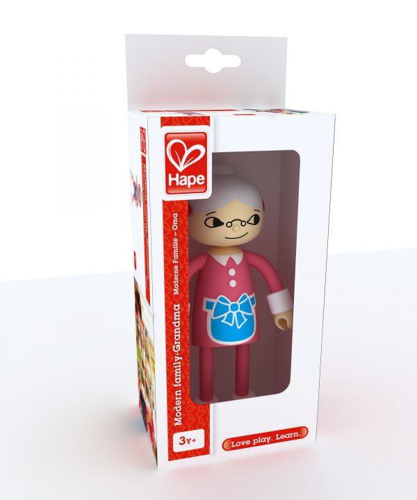 oma - grandma - modern family - hape - E3504 - speelgoed - houten speelgoed - kinder speelgoed - hout - verjaardagskado - verjaardagscadeau - kado - cadeau - peuter - kleuter - vanaf 3 jaar - poppenhuis - dn houten tol - de mouthoeve - boekel - winkel