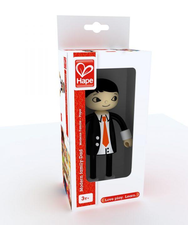 vader - dad - moderne familie - hape - E3505 - speelgoed - houten speelgoed - kinder speelgoed - kado - cadeau - verjaardagdcadeau - kind - child - poppenhuis - peuter - kleuter - vanaf 3 jaar - dn houten tol - de mouthoeve - winkel - boekel