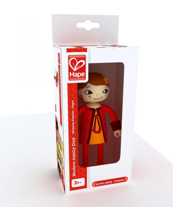 moeder - moderne familie - mom - hape - E3506 - poppenhuis - speelgoed - houten speelgoed - peuter - kleuter - vanaf 3 jaar - dn houten tol - de mouthoeve - boekel - winkel - verjaardagscadeau - kado - cadeau