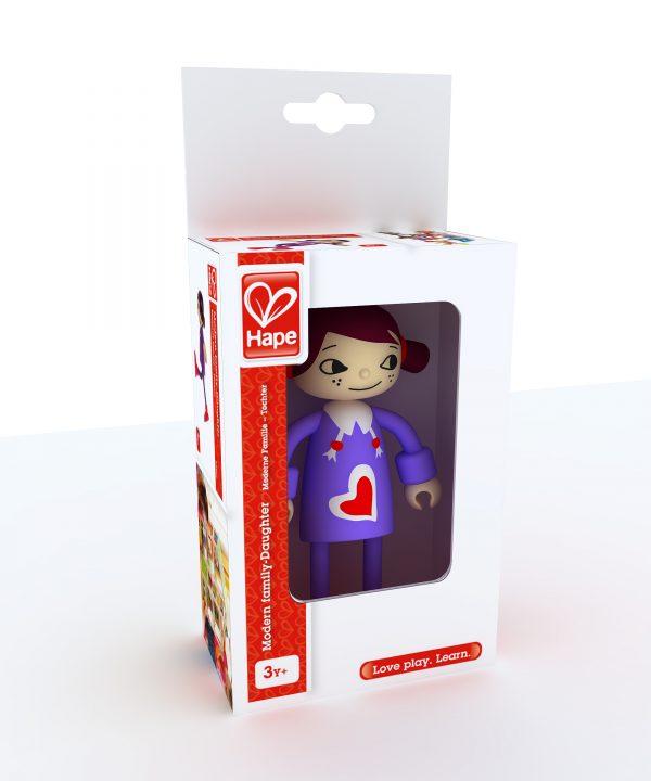 dochter - poppenhuis - moderne familie - daughter - speelgoed - houten speelgoed - kinder speelgoed - hape - E3507 - verjaardagscadeau - kado - peuter - kleuter - vanaf 3 jaar - dn houten tol - de mouthoeve - boekel - winkel