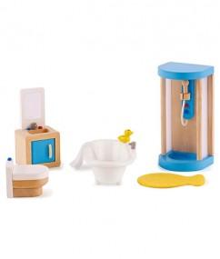 child - badkamer - poppenhuis - family bathroom - douche - toilet - speelgoed - houten speelgoed - kinder speelgoed - peuter - kleuter - vanaf 3 jaar - E3451 - hape - dn houten tol - de mouthoeve - boekel - winkel