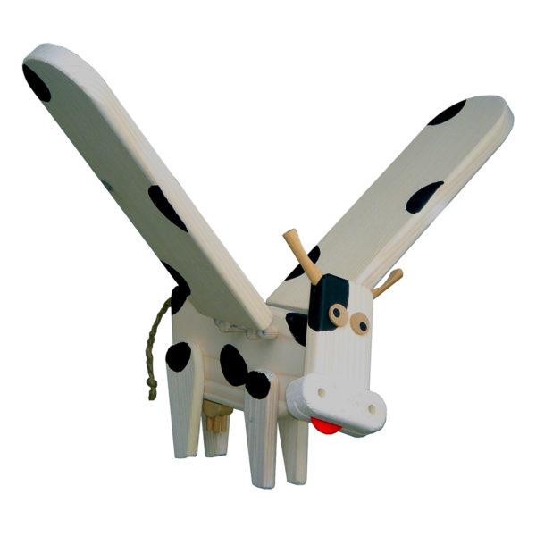 koe - mobielen - houten koe mobiel - vliegfiguur koe - speelgoed - hout - houten speelgoed - dn houten tol - de mouthoeve - boekel - decoratie slaapkamer - kinderkamer - decoratie - van dijk toys - 740026