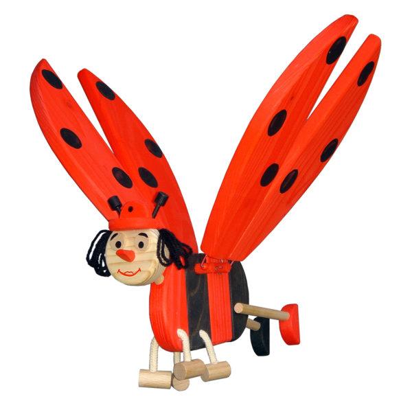 lieveheersbeestje - houten mobielen - houten lieveheersbeestje - hout - vliegfiguur lieveheerbeestje - speelgoed - houten speelgoed - decoratie - decoratie slaapkamer - kinderkamer - 741034 - van dijk toys - dn houten tol - de mouthoeve - boekel