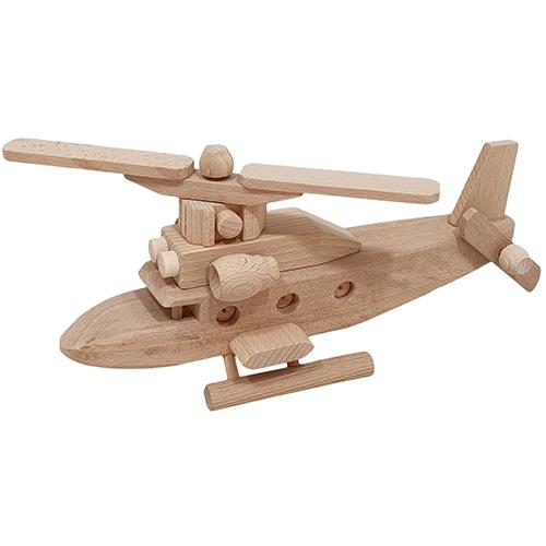 helikopter - SL382 - Helikopter met 1 propeller - houten helikopter - speelgoed - houten speelgoed - personaliseren speelgoed - kraamcadeau - dn houten tol - de mouthoeve - boekel - speelgoedwinkel -