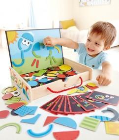 E1631 - magnetic art box - magnetisch kunst box - magnetisch - fantasie - spelen - speelgoed- houten speelgoed - cadeautjes - kraamcadeautjes - hape - speelgoedwinkel - dnhoutentol - de mouthoeve - boekel - speelgoedwinkel - kleuter - peuter