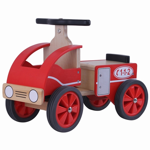 Brandweer loopauto - speelgoed - brandweer - houten speelgoed- houten loopauto - playwood - dn houten tol - speelgoedwinkel - de mouthoeve - boekel