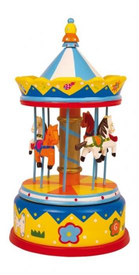carrousel - draaimolen - muziekdoosje - speelgoed - houten speelgoed - paardjes - dn houten tol - de mouthoeve - boekel - speelgoedwinkel