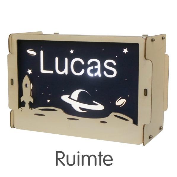Het houtlokael - kleuren - thema lamp - speelgoed - kinderlamp - hout - nachtlamp - houten - shop - ruimte - thema