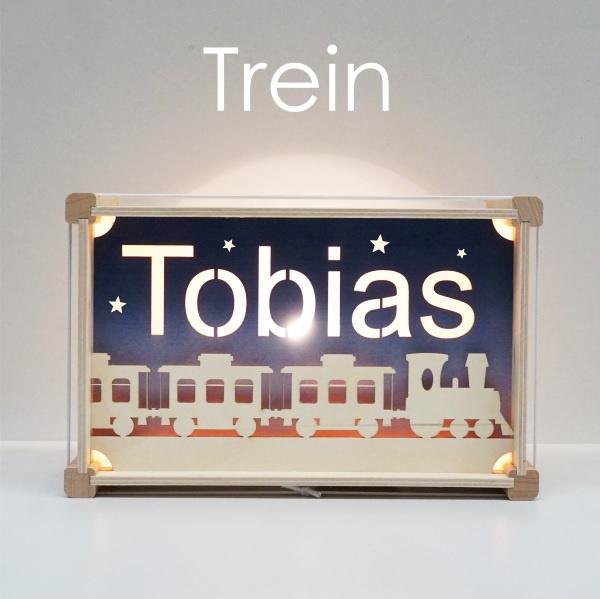 Het houtlokael - kleuren - thema lamp - speelgoed - kinderlamp - hout - nachtlamp - houten - shop - trein - thema