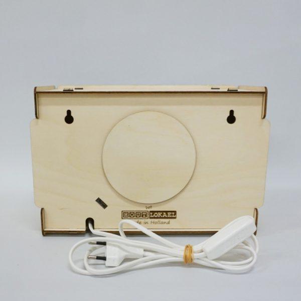 Het houtlokael - kleuren - thema lamp - speelgoed - kinderlamp - hout - nachtlamp - houten - shop - dino - thema - achterzijde