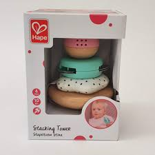 stapeltoren - stacking tower - hape - baby speelgoed - speelgoed - houten speelgoed- kraamcadeau - dn houten tol - de mouthoeve - boekel - E8502